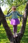 Юбка Туту фиолетового цвета.