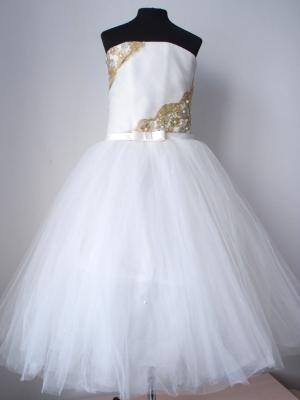 """Бальное платье """"Дарина"""" с пышной юбкой.Украшает данное платье нежный пояс с бантиком. Шикарное бальное платье идеально для выпускного бала, а также для любых торжеств! Само платье корсетного типа, идеально для девочек разного возраста.К этому платью подъюбник продается отдельно."""