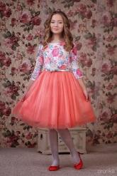 """Нарядное платье """"Сильвия"""" кораллового цвета."""