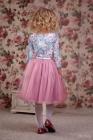 """Нарядное платье """"Сильвия"""" сиренево-розового цвета."""