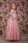 "Нарядное платье ""Люция"" темно-розового цвета."