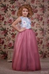"""Нарядное платье """"Люция"""" сиренево-розового цвета."""