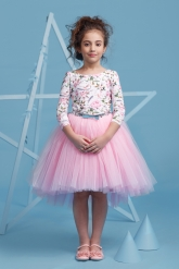 """Нарядное платье """"Милана"""" с пышной юбкой розового цвета."""