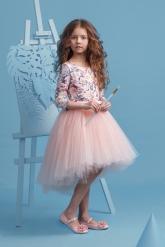 """Нарядное платье """"Милана"""" с пышной юбкой нежно-розового цвета."""