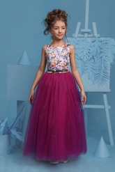 """Нарядное платье """"Триана"""" с пышной юбкой цвета фуксии."""