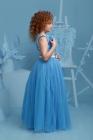 """Нарядное платье """"Триана"""" с пышной юбкой темно-лазурного цвета."""