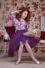 """Нарядный комплект """"Амелия"""" темно фиолетового цвета."""