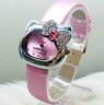 Часы Hello Kitty с бантиком и стразами на циферблате.