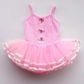 """Купальник для танцев """"Нежный цветок"""" розового цвета."""