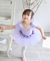"""Купальник для танцев """"Маленькая балерина"""" лавандового цвета."""