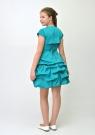 """Нарядное платье """"Мариэтта"""" бирюзового цвета с болеро."""