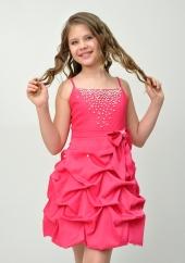 """Нарядное платье """"Мариэтта"""" малинового цвета с болеро."""