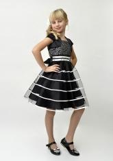 """Нарядное платье """"Беатриса"""" черного цвета с болеро."""