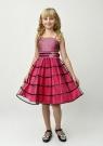 """Нарядное платье """"Беатриса"""" малинового цвета с болеро."""
