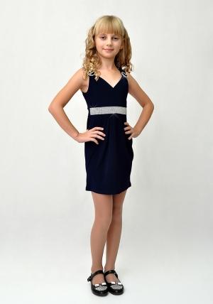 """Элегантное платье """"Ольга"""" темно-синего цвета.Красивое платье с оригинальным поясом, каждая девочка мечтает о таком платье. Идеальный наряд для любого праздника."""
