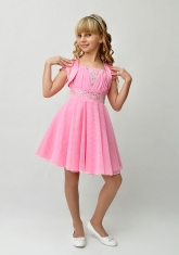 """Нарядное платье """"Юлия"""" розового цвета с болеро."""