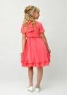 """Нарядное платье с болеро """"Валерия"""" кораллового цвета."""