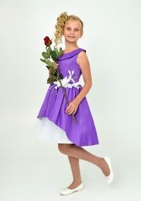 """Нарядное платье """"Татьяна"""" фиолетового цвета."""
