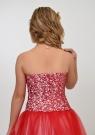 """Нарядное платье """"Констанция"""" бело-красного цвета."""