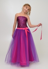 """Нарядное платье """"Констанция"""" фиолетово-малинового цвета."""