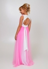 """Элегантное платье """"Вилена"""" бело-розового цвета."""