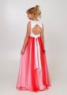 """Элегантное платье """"Вилена"""" бело-красного цвета."""