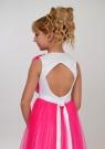 """Элегантное платье """"Вилена"""" бело-малинового цвета."""