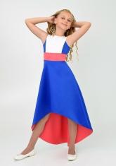 "Элегантное платье ""Симона"" цвет электрик."