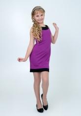 """Трикотажное платье с болеро """"Елизавета"""" цвета фуксии."""