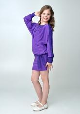 """Элегантное платье """"Анастасия"""" фиолетового цвета."""
