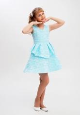 """Нарядное платье """"Полина"""" бирюзовый цвет."""