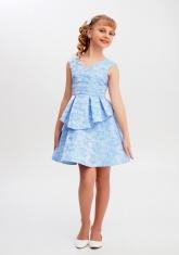 """Нарядное платье """"Полина"""" голубой цвет."""