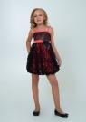 """Нарядное платье с болеро """"Кристи"""" цвет арбузный."""