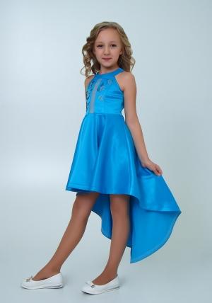 """Нарядное платье """"Эрика"""" голубой цвет.Элегантное платье для настоящих модниц и красавиц. Оригинальное платье для девочек."""