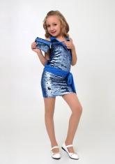 """Нарядное платье с сумочкой """"Аглая"""" голубого цвета."""