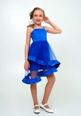 """Элегантное платье с болеро """"Любава"""" цвета электрик."""