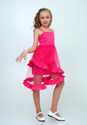"""Элегантное платье с болеро """"Любава"""" цвет малиновый.Красивое платье с оригинальной юбкой, платье для настоящих модниц. Данное платье застегивается на молнию, а бретельки регулируются."""