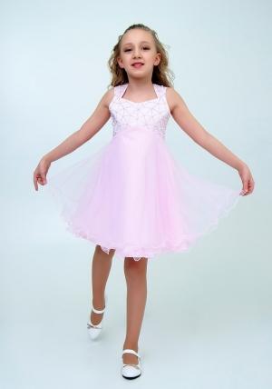 """Нарядное платье """"Елена"""" розовый цвет.Элегантное платье для настоящих модниц и красавиц. Вверх платья украшен жемчугом и пышной многослойной юбкой."""