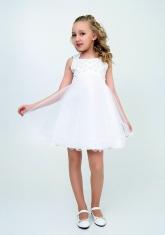 """Нарядное платье """"Елена"""" цвет белый."""