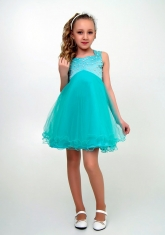 """Нарядное платье """"Елена"""" цвет ментоловый."""