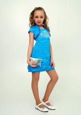 """Нарядное платье с болеро """"Волна"""" цвет бирюзовый."""