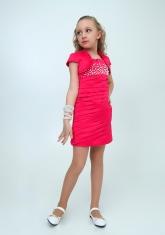 """Нарядное платье с болеро """"Волна"""" цвет малиновый."""