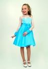 """Нарядное платье """"Василина"""" цвет голубой."""