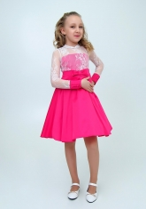 """Нарядное платье """"Василина"""" цвет малиновый."""