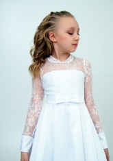 """Нарядное платье """"Василина"""" цвет белый."""