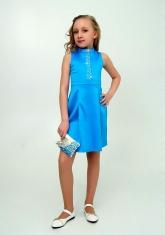"""Нарядное платье """"Алёна"""" голубого цвета."""