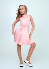 """Нарядное платье """"Алёна"""" персикового цвета."""