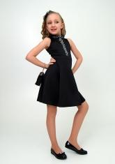 """Нарядное платье """"Алёна"""" черного цвета."""
