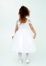 """Нарядное платье """"Лина"""" цвет белый."""