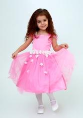 """Нарядное платье """"Лина"""" цвет розовый."""